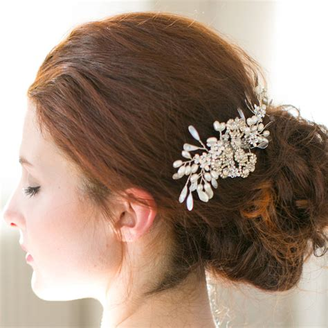 Wedding Hair Accessories Bc by Wedding Hair Wedding Hair Pearl Blossom