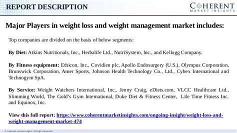 weight management industry analysis weight loss and weight management market global industry