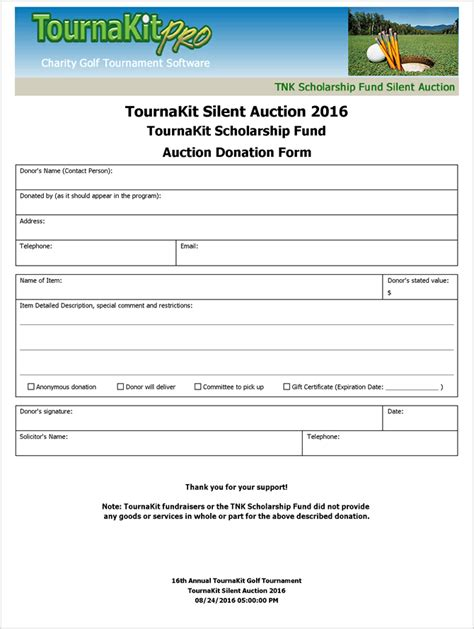 silent auction donation form template charity auction forms images 108 silent auction bid