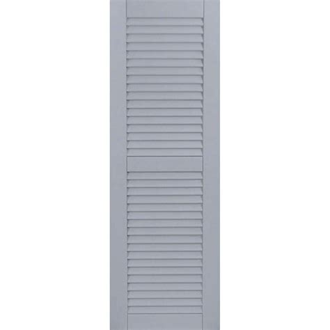 pinecroft 15 in x 63 in louvered shutters pair