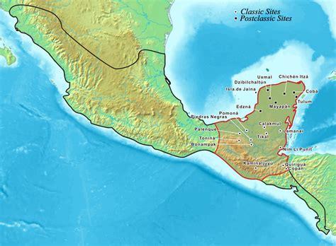 mayan ruins map collasso dei