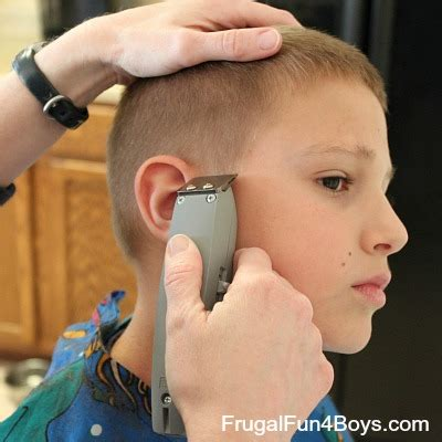 haircut half inch touching ears how to do a boy s haircut with clippers
