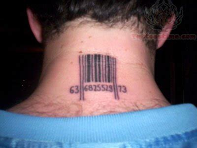 barcode tattoo back of neck barcode tattoo on back neck