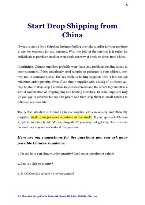 Introduction Letter Price List China Drop Shipping Suppliers And Wholesale Websites List