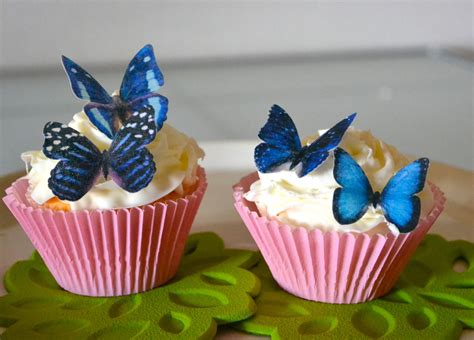 Edible Decorations For Cupcakes by Wedding Cake Topper 12 Blue Edible Butterflies Edible