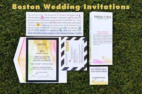 Wedding Invitations Boston by Trending Tuesday Boston Themed Wedding Invitations