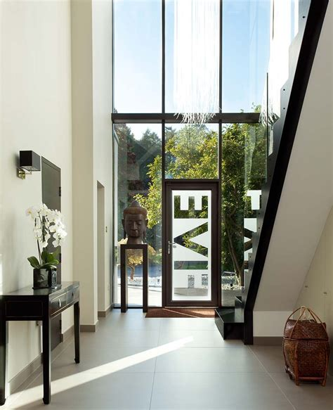 double height entrance hall   london remodel houses entrance hall house entrance modern