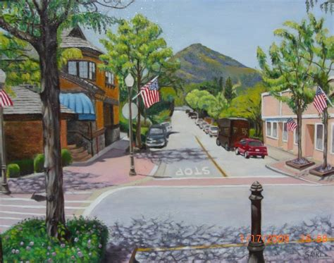 downtown hill ca downtown hill by painting by lorna saiki