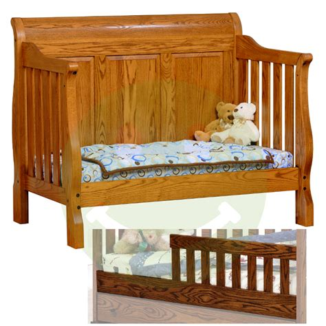 Amish Baby Cribs by Sleigh Panel 4 In 1 Convertible Baby Crib Made In Usa