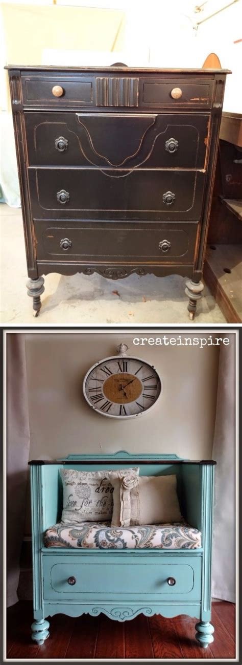 turn dresser into bench 30 awesome diy ideas to give life to your old furniture