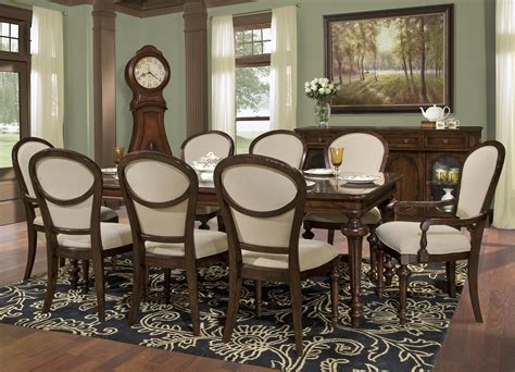 Room Place Outlet by Hekman Charlestone Place 9pc Rectangular Dining Set In