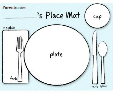 table placement template printable table setting place mats