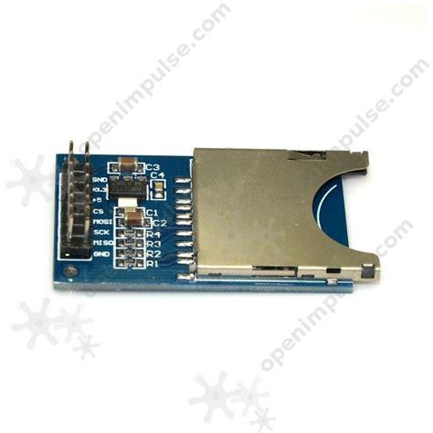 Memory Card Slot 2pcs sd card slot module open impulseopen impulse