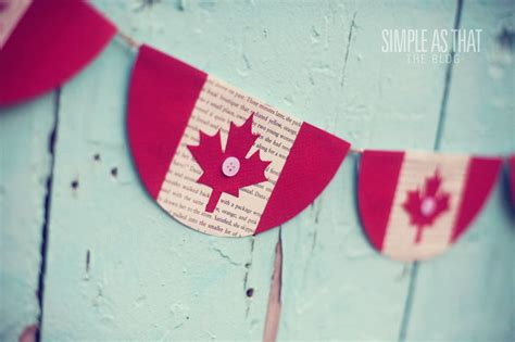 canadian crafts for canada day bunting