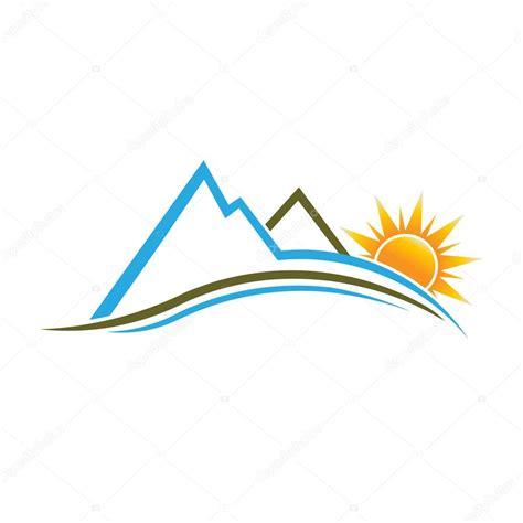 imagenes de cumpleaños vectores monta 241 as y sol imagen logo vector de stock 51904541