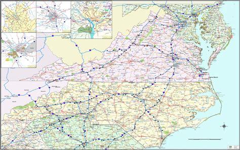 virginia and carolina map map of nc carolina cities breeds picture