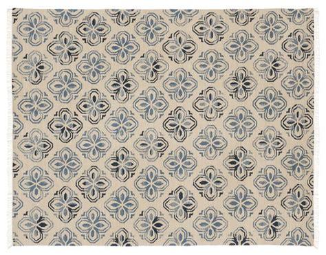 pottery barn dhurrie rug alhambra tile dhurrie rug blue mediterranean rugs