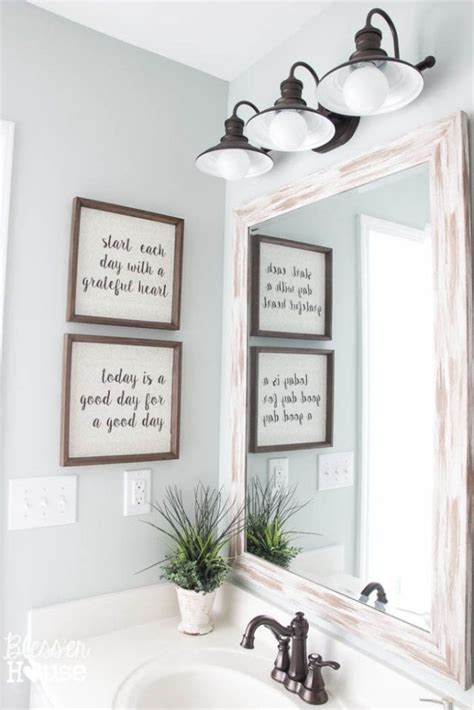 bathroom mirror quotes 7 steps to creating your dream farmhouse bathroom mirror