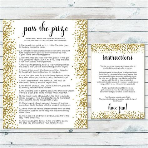 Pass The Prize Baby Shower Poem by Best 25 Bridal Shower Prizes Ideas On Kitchen