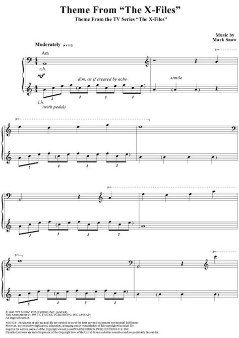 piano tutorial x files theme 17 best images about sheet music on pinterest ants