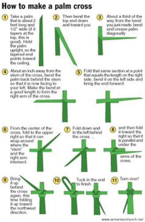 How To Make A Paper Cross - 1000 images about palm cross weaving on