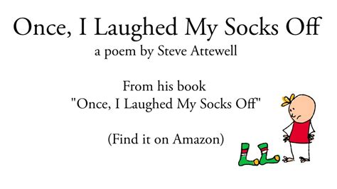 funny kids poem   laughed  socks  read   author youtube