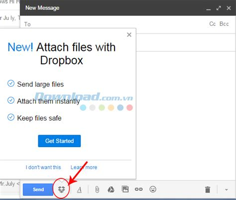 Dropbox Login With Gmail | how dropbox integrated into gmail