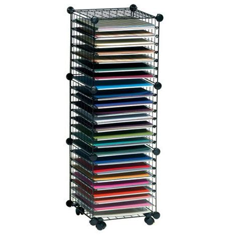 Craft Paper Storage Solutions - product scrapbook solutions wire paper storage 3 cube system