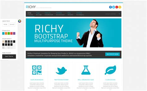 bootstrap themes corporate richy multipurpose bootstrap theme business