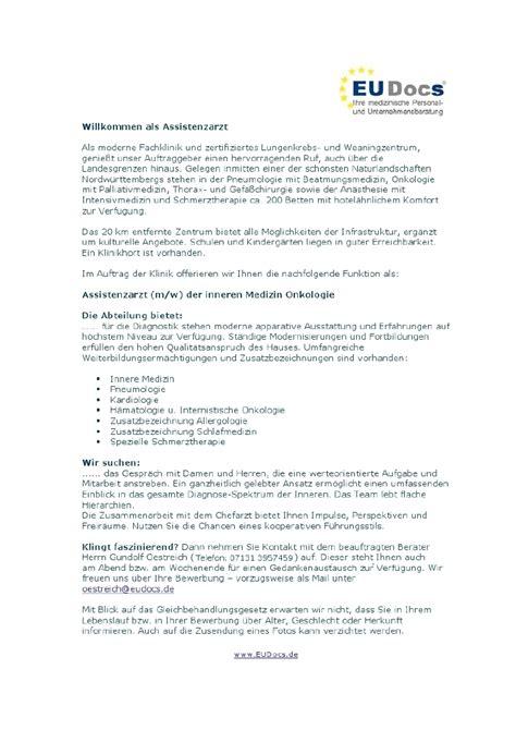 Anschreiben Bewerbung Assistenzarzt Neurologie motivationsschreiben assistenzarzt deckblatt bewerbung 2018