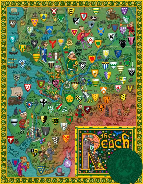 Westeros Houses by Nerdovore Maps And Family Trees Of Westeros
