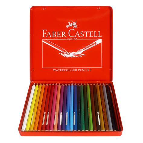 Pensil Warna Faber Castell 24 Warna Watercolor Per 36 Set jual faber castell watercolour pencils in tin isi 24 murah
