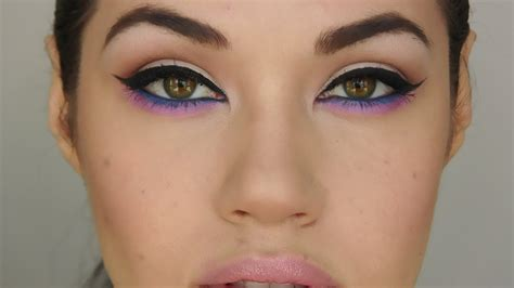 tutorial makeup youtube colourful cat eye makeup tutorial youtube