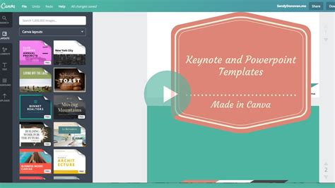 How To Create A Keynote Or Powerpoint Template Design In Canva Soooo Easy Youtube Canva Powerpoint Templates
