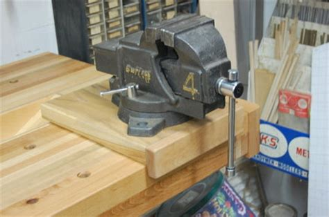 how to mount a bench vise machinist vise for woodworking workbench by tyvekboy