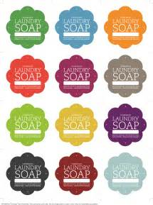 Free Soap Label Template by Laundry Soap Labels Yumuniverse