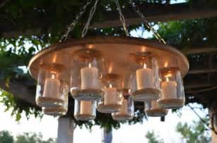 jar chandelier wedding patio decor rustic by