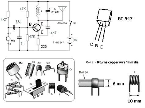 simple 1 transistor fm transmitter simple fm transmitter with bc549