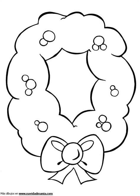 dibujos de navidad para colorear tamaño carta dibujo de corona de acebo para colorear de navidad
