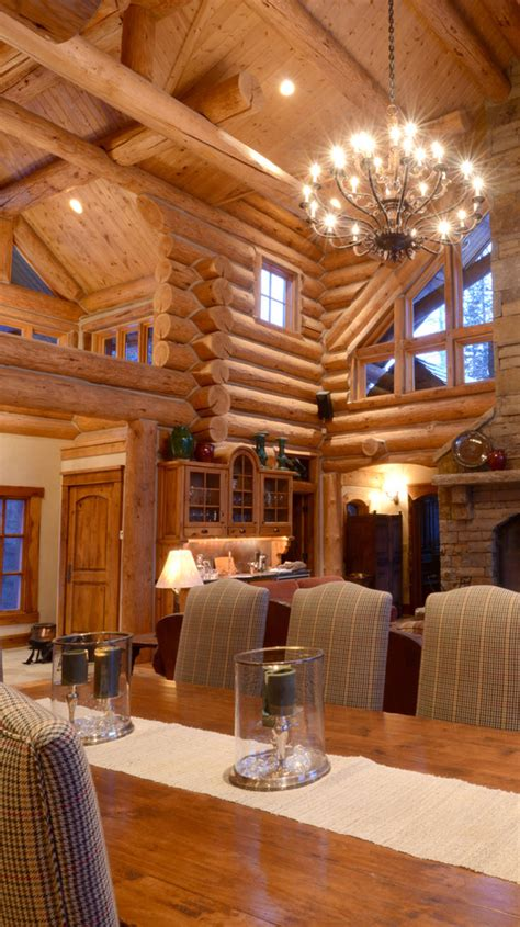 Log Homes Interior Designs by Rustic Home Design Inspiration