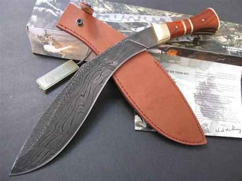 Handmade Kukri - custom knives handmade damascus kukri knife big bowie