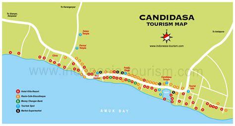 candidasa bali map bali island indonesia tourism maps