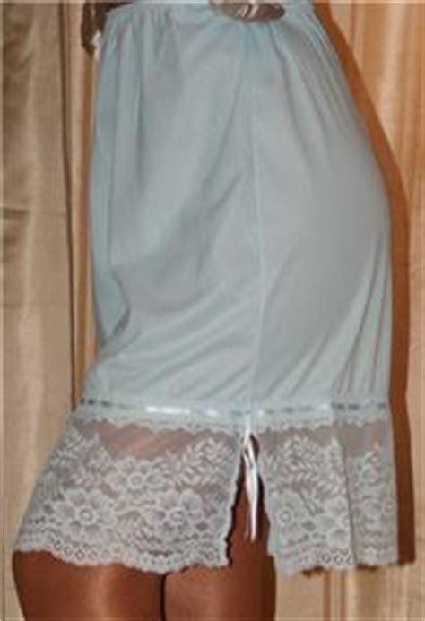 petticoat sissy ebay s baby blue lacy vintage lingerie sissy 1 2 slip petticoat