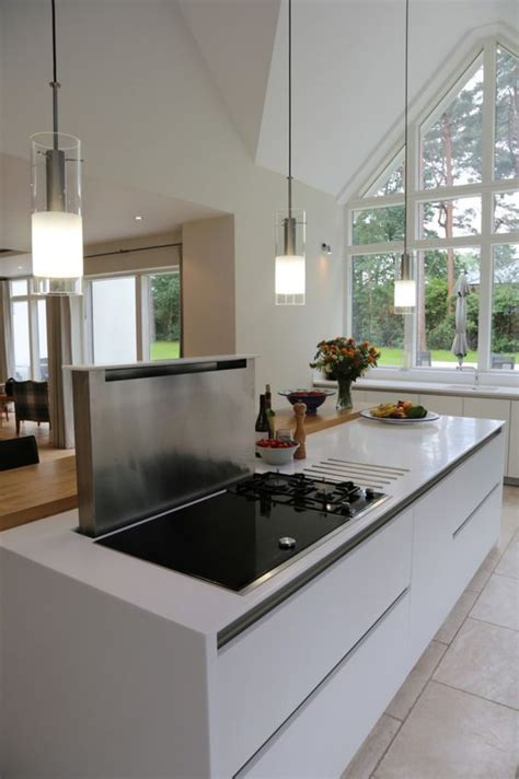 kitchen island downdraft extractor contemporary london breakfast bar worktop with hob google search kitchen