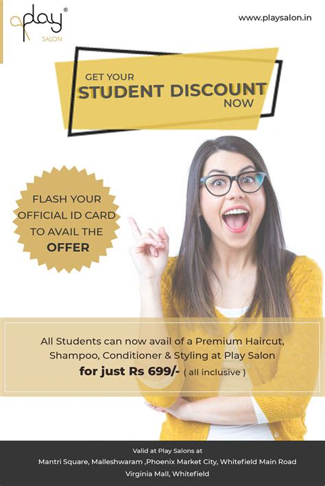 salon offers play salon offer for students get the awesome offer at