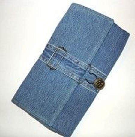kreasi daur ulang celana bekas menjadi dompet dan
