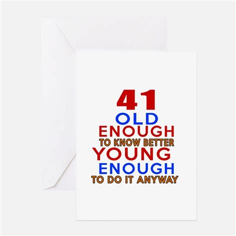 41 Birthday Card 41st birthday designs greeting cards card ideas sayings
