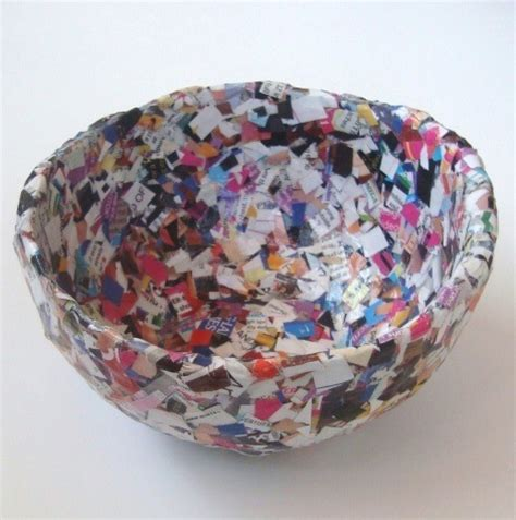 How To Make Paper Bowls From Magazines - 18 creative things to do with newspapers