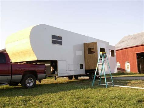 Fifth Wheel Rv Floor Plans More Siding Homemade Rv Fifthwheel Camper Pinterest