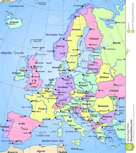 map of european continent map of europe continent royalty free stock photography
